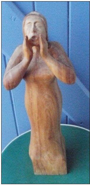 Sculpture en bois : statue d'une femme de 34 cm 25 Montauban (82)