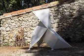 Sculpture ,Cocotte ,origami,acier,sculpture,art,exposition, 0 Sanary-sur-Mer (83)