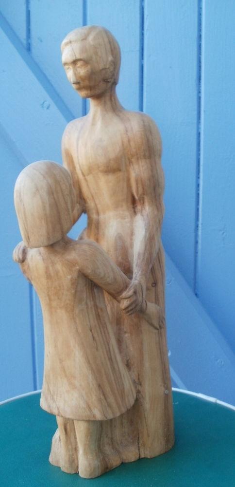 Sculpture fait main en bois (homme et enfant) 30 Montauban (82)