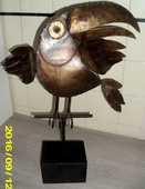 Sculpture en métal grand Toucan  390 Antibes (06)