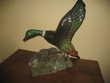 Sculpture Raymond GANGLOFF Canard Col Vert Montpellier (34)