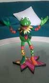 sculpture en résine de Kermit la grenouille  80 Meaux (77)
