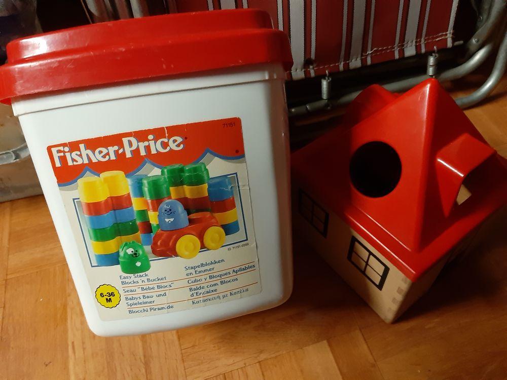 seau blocs bébé FISHER PRICE et coffret trieur de formes 5 Carbon-Blanc (33)