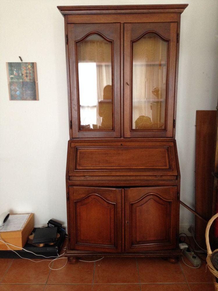secrétaire vitrine en merisier, style Louis Philippe 180 Versailles (78)