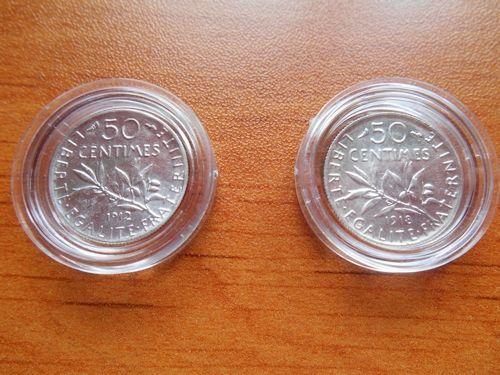 50 cts Semeuse argent type Cérès 1912 et 1913 25 Troyes (10)