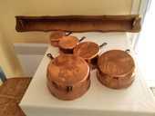 Série de Casserole en cuivre  25 Saint-Laurent-de-la-Salanque (66)