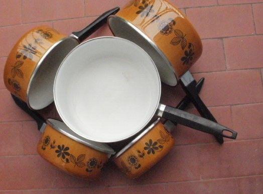 Série 5 casseroles acier émaillé à fond épais 20 Montauban (82)