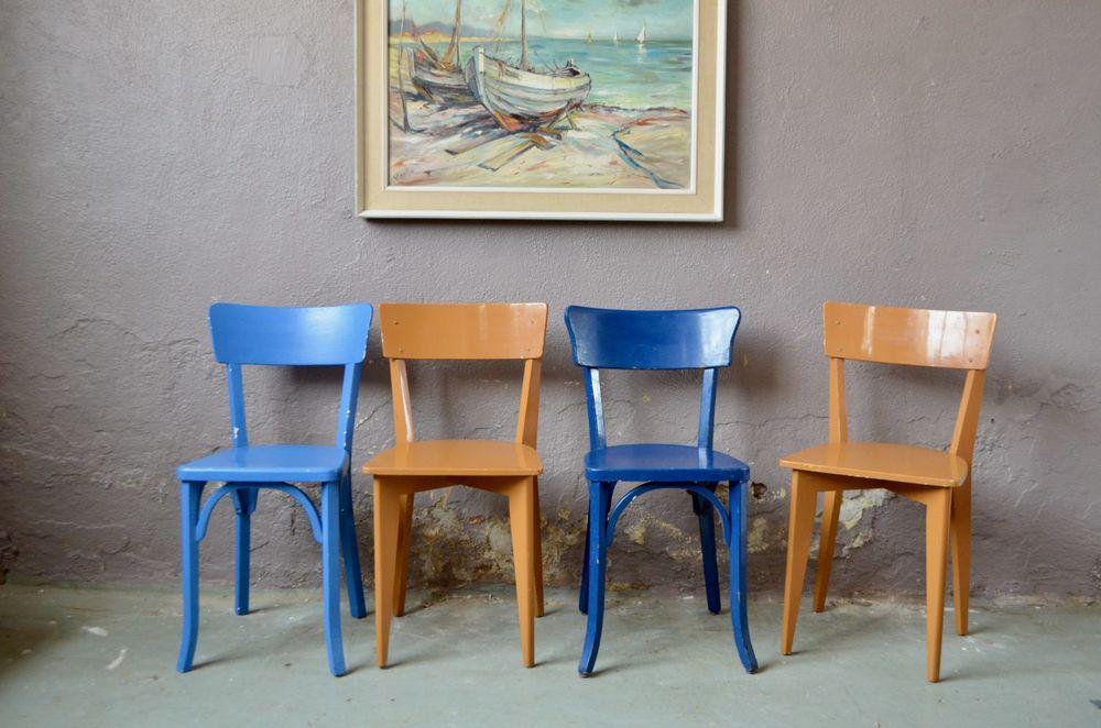 Série de chaises bistrot style vintage dépareillées 280 Wintzenheim (68)