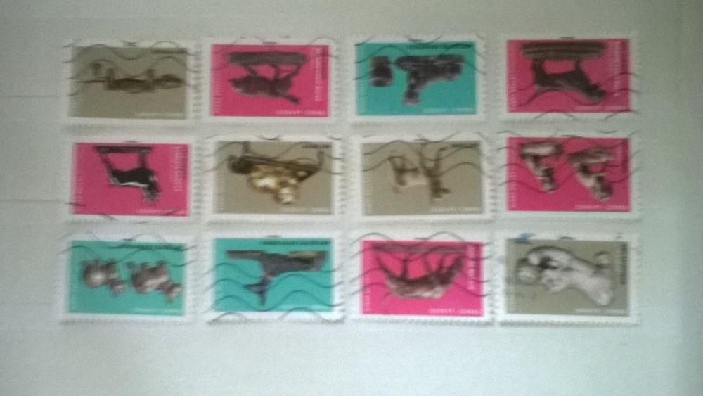 Série complète des 12 timbres auto adhésif 2 Lannion (22)