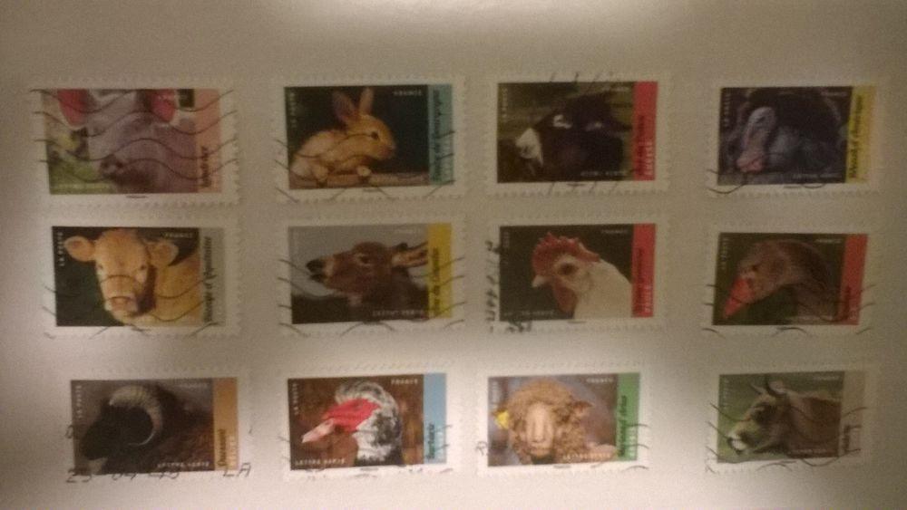 Série complète de timbres auto adhésif pour collection  2 Lannion (22)