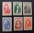 Série 612 à 617 timbres avec charnières