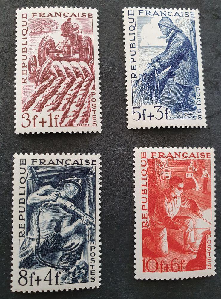 Série 823 à 826  timbres avec charnière  50 c 1 Joué-lès-Tours (37)