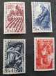 Série 823 à 826  timbres avec charnière  50 c