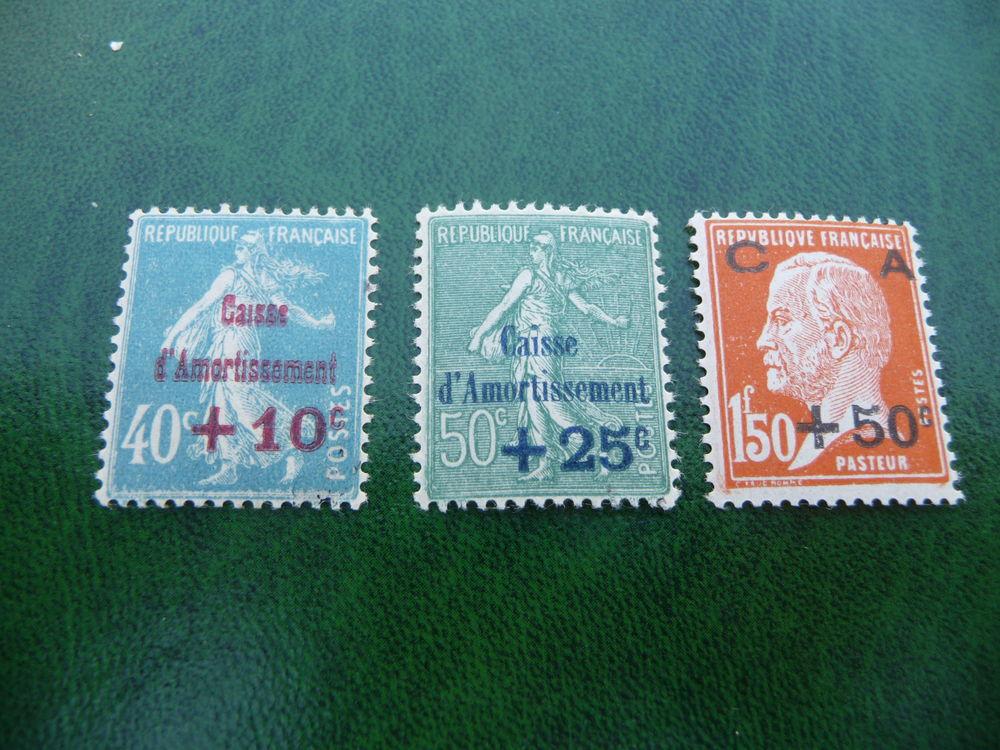 serie timbres caisse d'amortissement n 246 a 248 neufs** 20 Fabrègues (34)