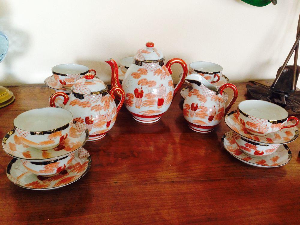 Service à thé ou café ancien porcelaine fine Japon 80 Avon (77)