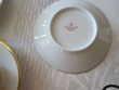 Service à café ancien HAVILAND blanc avec liseré or