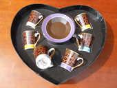 SERVICE A CAFE dans coffret coeur  9 Dammarie-les-Lys (77)