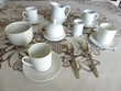Service à café et déjeuner neuf en porcelaine