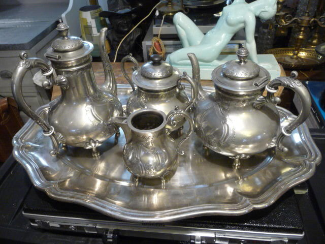 SERVICE A CAFE METAL ARGENT FIN XIXeme 350 Trappes (78)