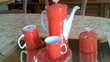 service à café rouge