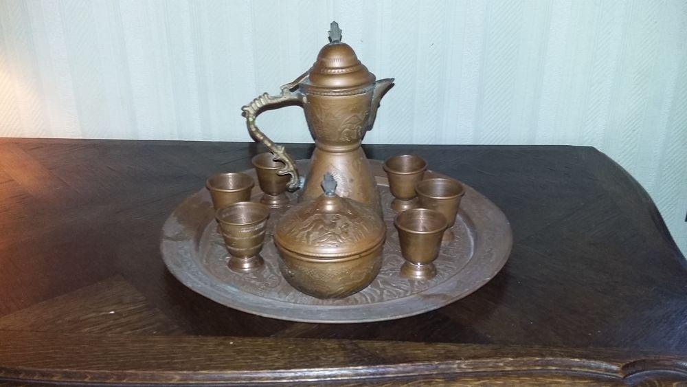Service à thé en cuivre complet - Artisanat d'Algérie 10 Guignes (77)