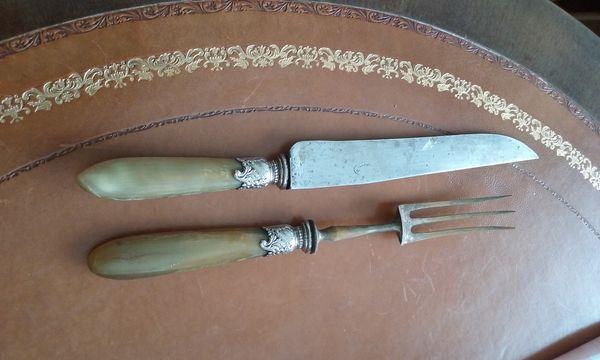 Service à découper corne et métal 20 Charenton-le-Pont (94)