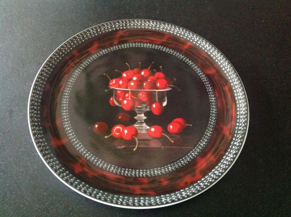 Service à fruits cerises porcelaine Bernardaud 1000 Fontvieille (13)