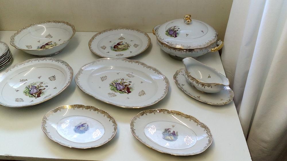 service en porcelaine doré à l'or fin 180 Domloup (35)