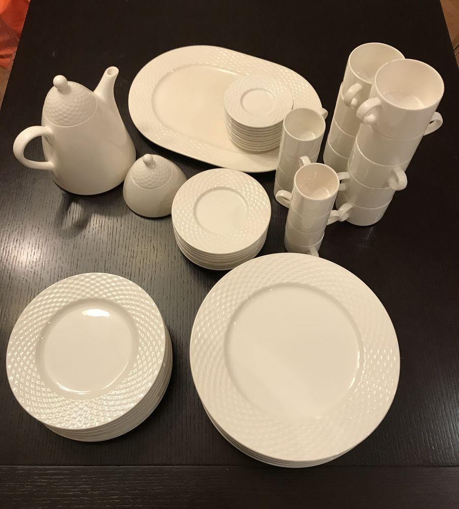 Service de vaisselle HABITAT ivoire 60 Vanves (92)