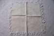 9 serviettes de table anciennes en damassé écru et blanc Choisel (78)