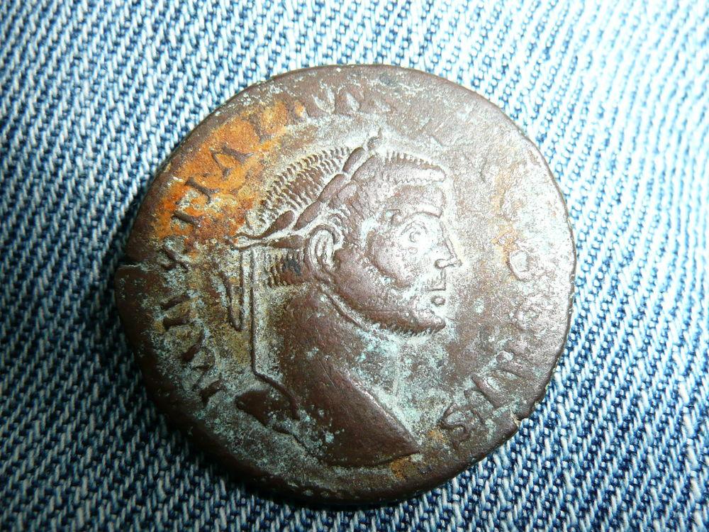 Sesterce Follis de Galère 305-311 Monnaie Romaine 75 Bordeaux (33)