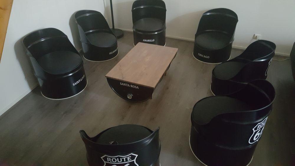 sets de siège bidons vintage de couleurs noires 1400 Gannat (03)