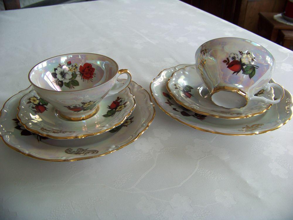 Sets tasses à thé vintage porcelaine 15 Saint-Jean-de-Thouars (79)