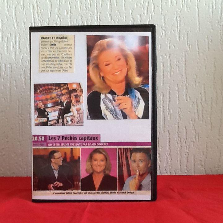DVD SHEILA extraits d'émissions enregistrées à la télé 5 Saint-Etienne (42)