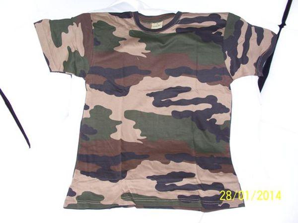 Tee shirt 100 % armee francaise cam ce neuf 10 Les Églisottes-et-Chalaures (33)