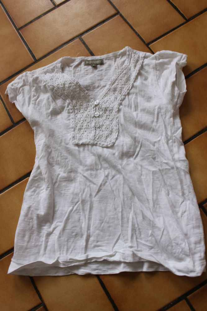 T-shirt blanc in extenso 6 ans 3 Wervicq-Sud (59)
