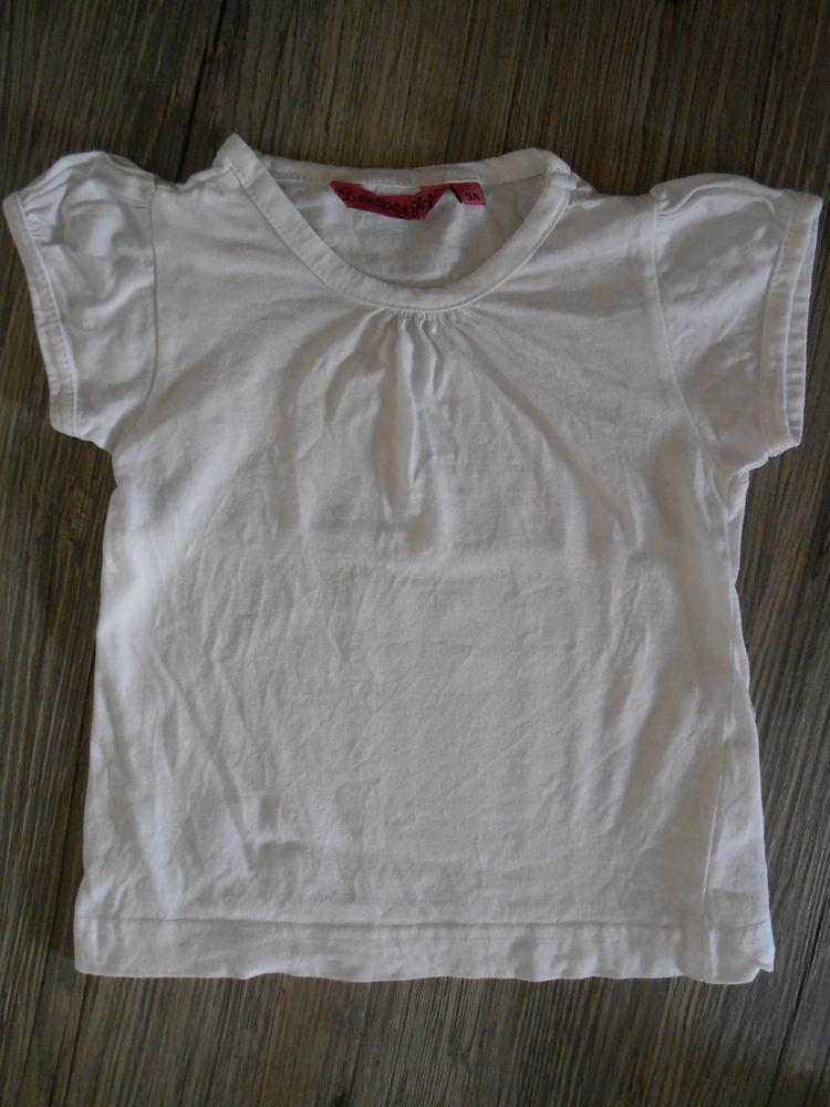 Tee shirt blanc MC fille 3 ans TBE 2 Aurillac (15)