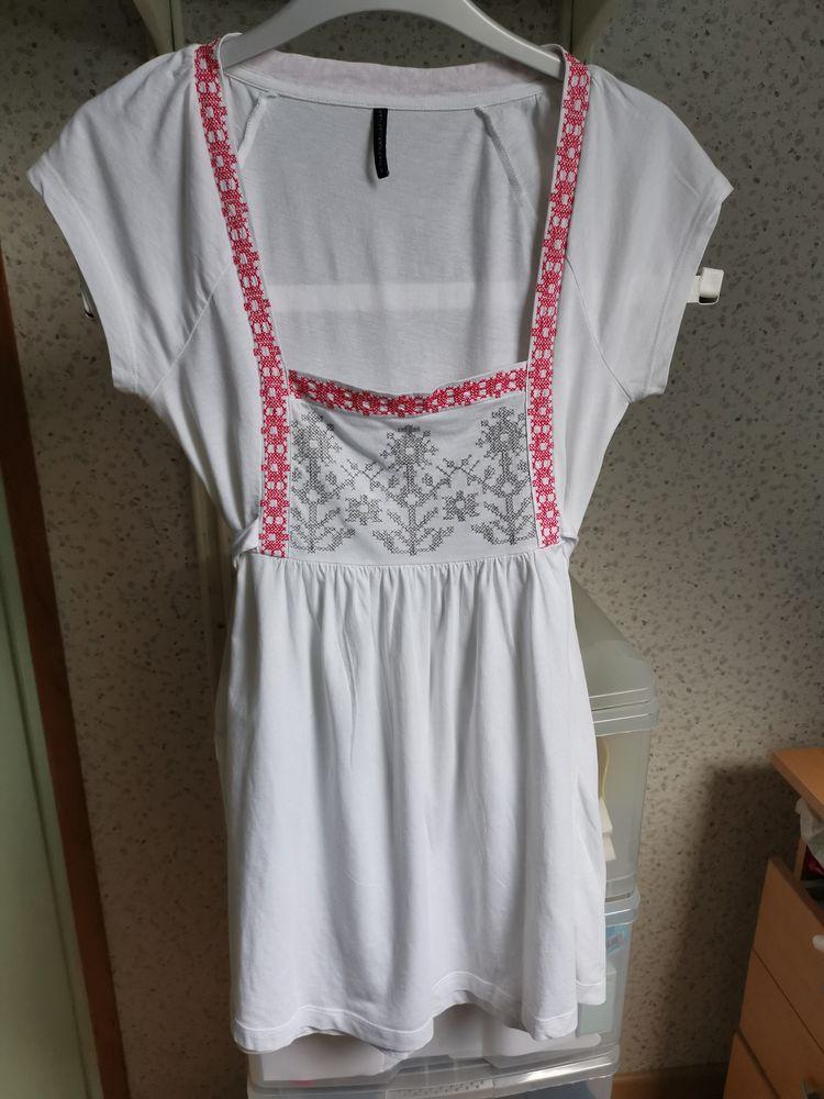 Tee-shirt blanc, gris, rouge Naf Naf, taille S 12 Villemomble (93)