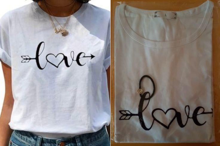 Tee Shirt blanc imprimé Love 11 Lille (59)