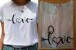 Tee Shirt blanc imprimé Love
