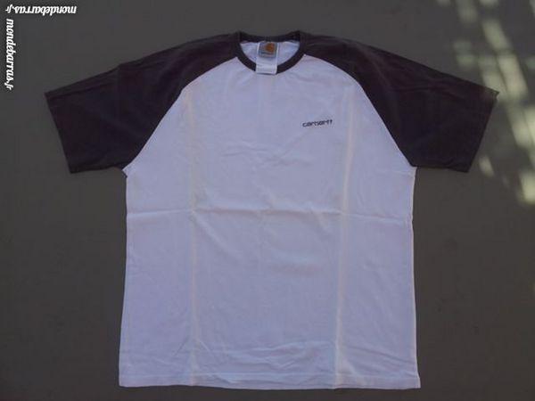 Tee Shirt blanc et noir Carbartt-L 3 Saint-Didier (84)
