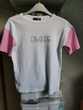 Tee-shirt blanc, rose sans marque