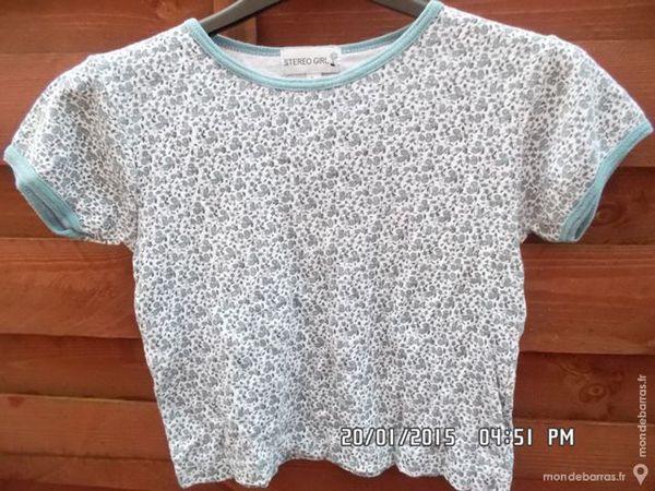 tee shirt bleu à fleurs t.8 ans kiki60230 1 Chambly (60)