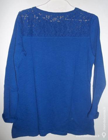 Tee-shirt bleu - manches longues - femme 6 Pont-Péan (35)