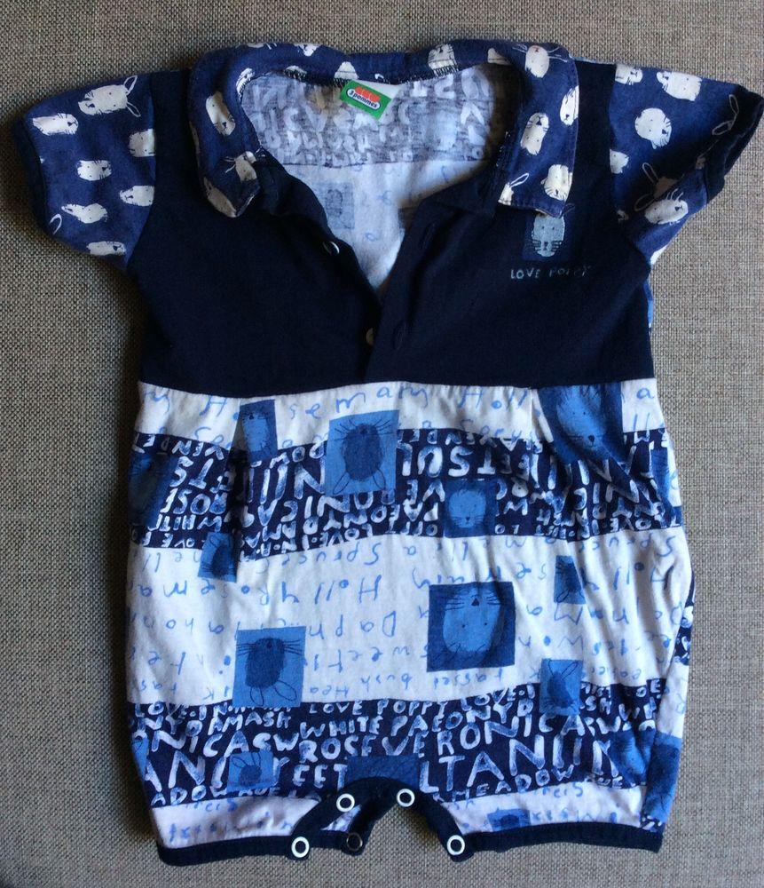 T-shirt body bleu marine souris manches courtes - 18 mois Vêtements enfants