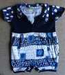T-shirt body bleu marine souris manches courtes - 18 mois