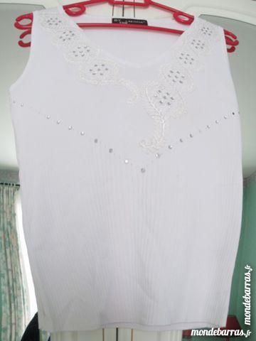 38/40 Tee shirt /débardeur blanc pailleté 6 Alfortville (94)