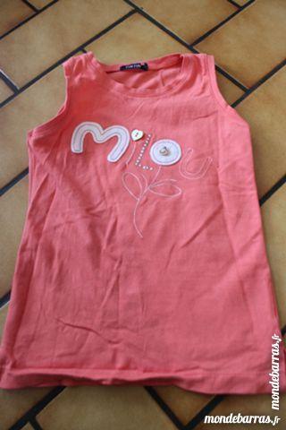 T-shirt débardeur milou orange 4 ans neuf Vêtements enfants
