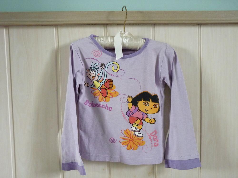 T-shirt dora l'exploratrice 6 ans violet TBE Fille 1 Brienne-le-Château (10)