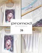 T-shirt écru fantaisie PROMOD 8 Marcq-en-Barœul (59)